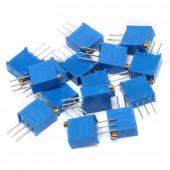 Набор резисторов подстроечных 3296W 15 значений
