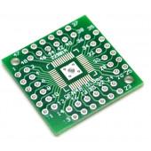 Адаптер QFP44/QFN48 на шаг 0.5мм