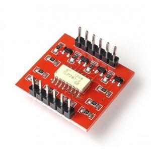 Модуль оптоизолятора, оптрон 4-х канальный на TLP281-4