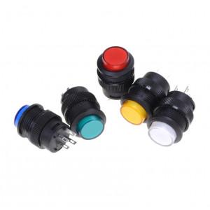 Переключатель круглый R16-503BD AC 3A/250V без фиксации