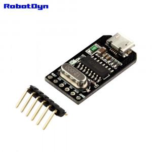 Адаптер USB - UART TTL, CH340G, 5В/3.3В, MicroUSB
