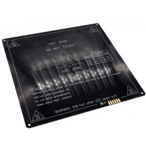 Нагревательный стол алюминиевый 214x214x3мм для 3D принтера 12/24в