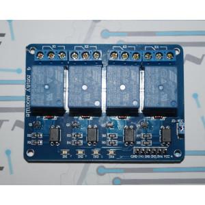 Модуль реле 4-х канальный (5В)