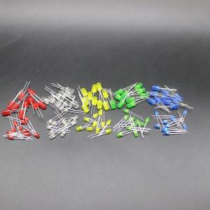 Комплект светодиодов 50шт 3-5mm
