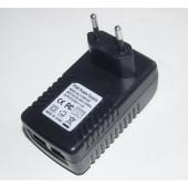 Однопортовый POE адаптер 48В 24Вт