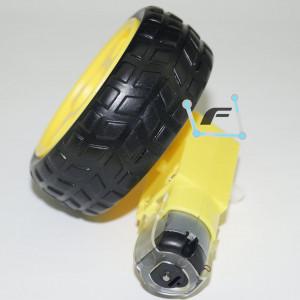 Колесо с Мотор с редуктором для Ардуино робота