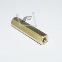 Латунная стойка для печатных плат M3-10mm (мама-мама)