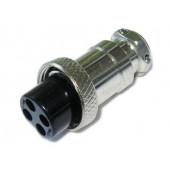 GX16-4 комплект штекер и гнездо MiC 4pin