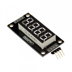 Модуль 4-значный 7-сегментный LED дисплей, 50x19мм, драйвер TM1637