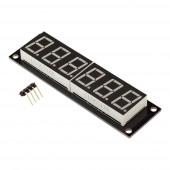 Модуль 6-значный 7-сегментный LED дисплей, 74x14мм, драйвер TM1637