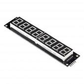 Модуль 8-значный 7-сегментный LED дисплей, 120x27мм, драйвер 74HC595